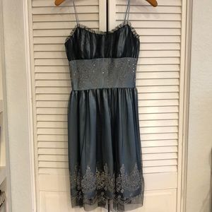 Sequin and tulle babydoll dress